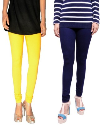 Tanunni Women's Yellow, Dark Blue Leggings