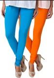 Fasense Women's Blue, Orange Leggings (P...