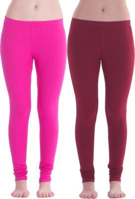 Spictex Girl's Pink, Red Leggings