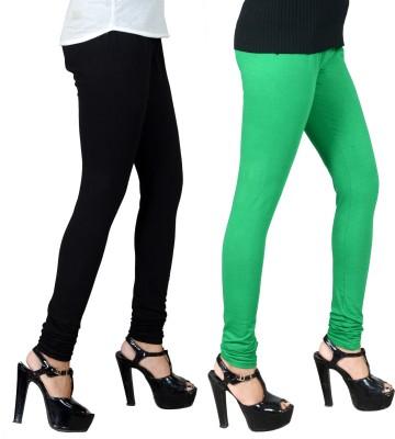 JSA Women's Black, Green Leggings