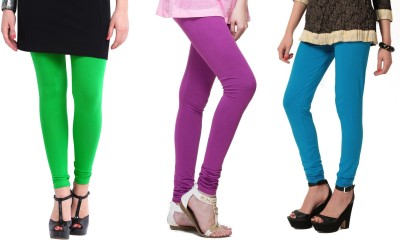 Angel Soft Women,s Green, Purple, Light Blue Leggings