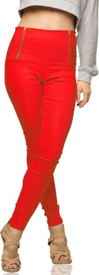 Miss Chase Women's Red Jeggings