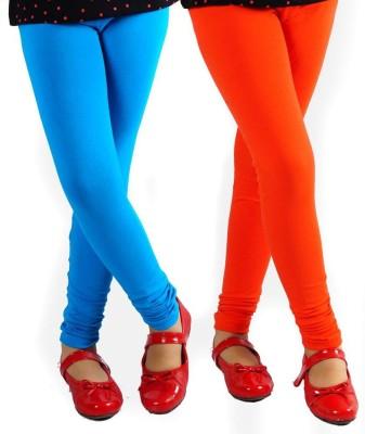 divine creations Women,s Light Blue, Orange Leggings