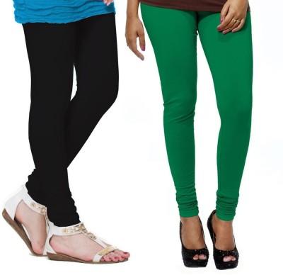 VP Vill Parko Women's Black, Green Leggings