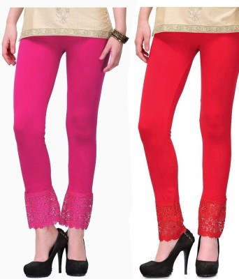 MDS Jeans Women's Red, Pink Leggings