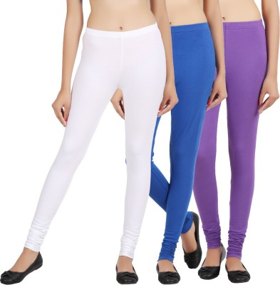 Sewn Women's White, Dark Blue, Purple Leggings