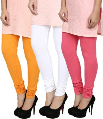 Fizzaro Women's Orange, White, Pink Leggings
