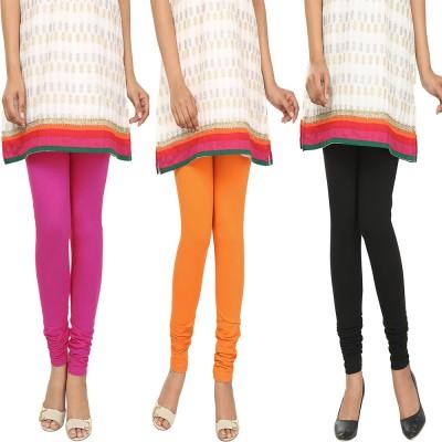Agrima Fashion Women's Pink, Orange, Black Leggings
