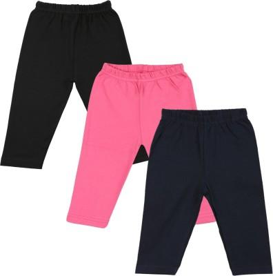 Color Fly Baby Girl's Black, Pink, Dark Blue Leggings