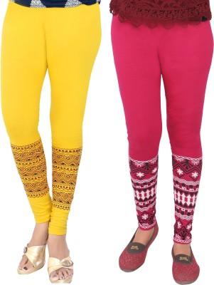 T-BRO,S Enterprises Women's Yellow, Pink Leggings
