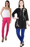 MDR Women's Blue, Pink Leggings (Pack of...