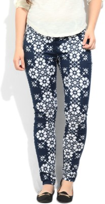 Cherokee Women's White, Dark Blue Jeggings