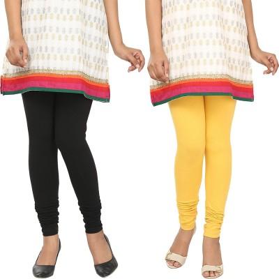 Agrima Fashion Women's Black, Yellow Leggings