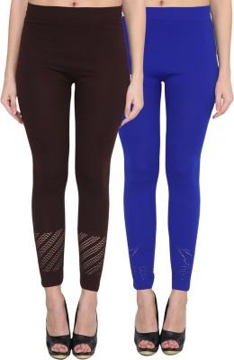NumBrave Women's Brown, Blue Leggings