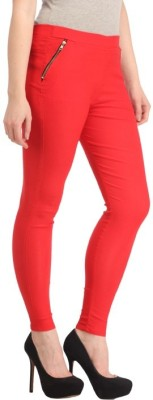 Ansh Fashion Wear Women's Red Jeggings