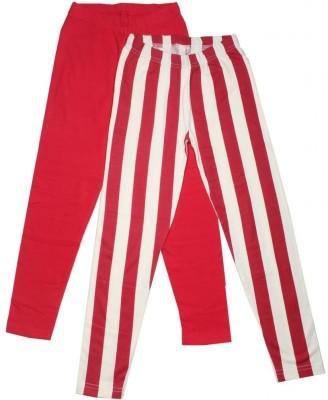Fiore Girl's Red Leggings