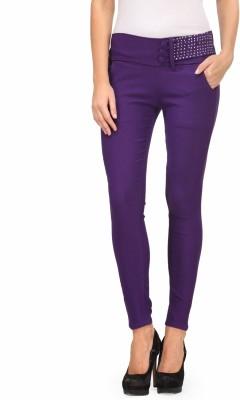 A A Store Women's Purple Jeggings
