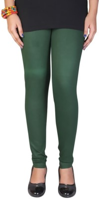 R R Women's Dark Green Leggings