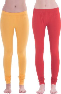Spictex Girl's Yellow, Red Leggings
