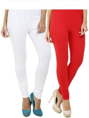 HiFi Women's White, Red Leggings