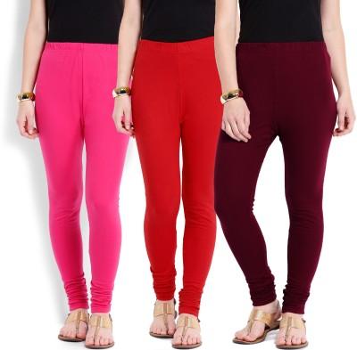 Ten on Ten Women's Maroon, Pink, Red Leggings