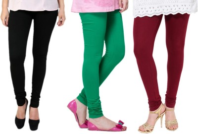 Lienz Women's Black, Green, Maroon Leggings