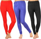 SLS Women's Red, Blue, Black Leggings (P...