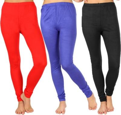 SLS Women's Red, Blue, Black Leggings