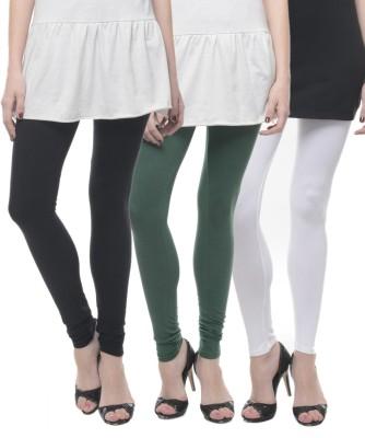 Lavennder Women's Black, Green, White Leggings