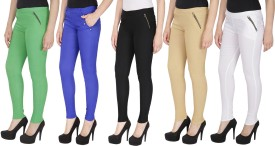 RZ Lecort Women's Multicolor Jeggings(Pack of 5)