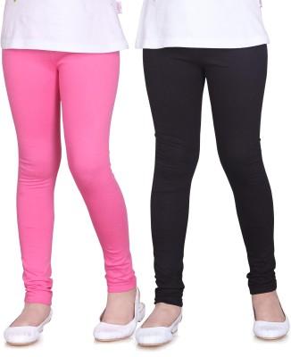Sini Mini Girl's Pink, Black Leggings
