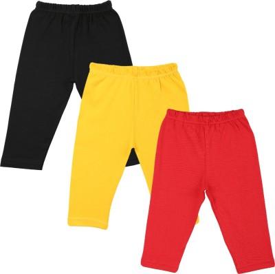 Color Fly Baby Girl's Black, Red, White Leggings