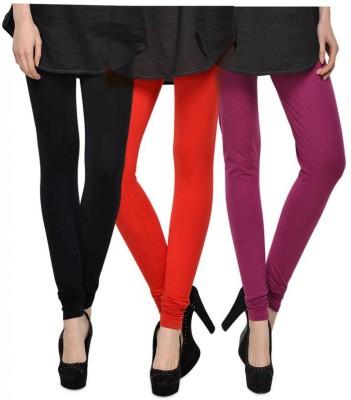 Fashion Zilla Women's Black, Orange, Pink Leggings