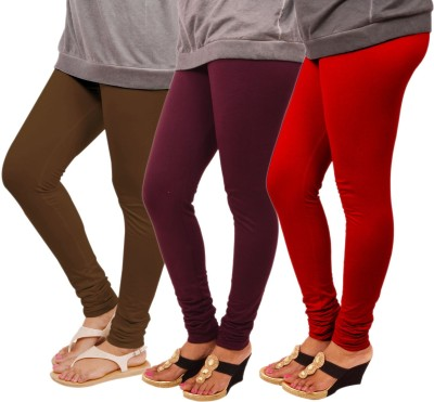 Leggings World Women's Brown, Maroon, Red Leggings