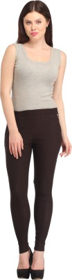 FASHION SHOPPE Women's Brown Jeggings
