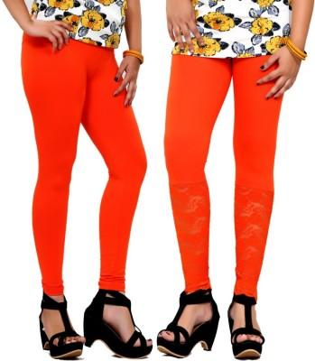 By The Way Women's Orange Leggings
