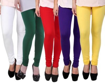 Myra Softwear Women's Yellow, Pink, Blue, Light Blue, Red Leggings