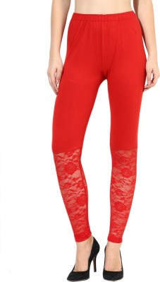 Aashish Fabrics Women's Red Leggings