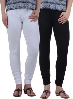 American-Elm Women's Black, White Leggings