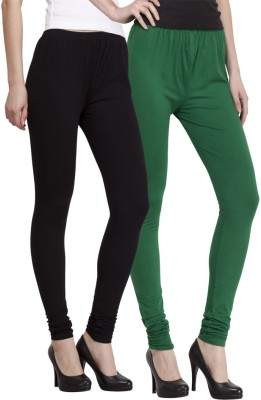 Venustas Women's Dark Green, Black Leggings
