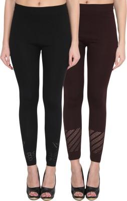 NumBrave Women's Black, Brown Leggings
