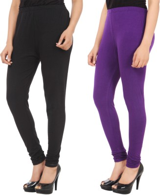 Xposé Women's Black, Purple Leggings