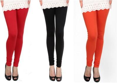 Raro Women's Red, Black, Orange Leggings
