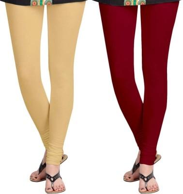 Roshni Creations Women's Beige, Red Leggings