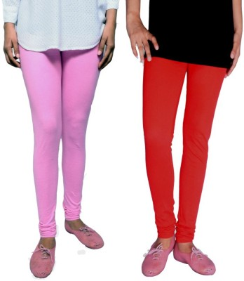 Tanunni Women's Pink, Red Leggings