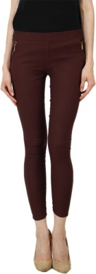 Ansh Fashion Wear Women's Brown Jeggings