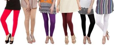 Prekrasna Women,s Red, Gold, Purple, Maroon, Black, White Leggings