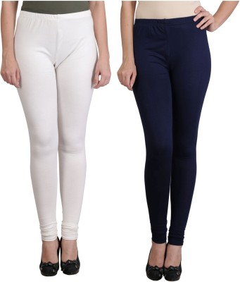 Ahhaaaa Women's White, Blue Leggings