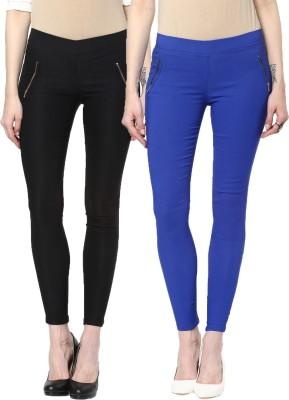 Zea-Al Women's Black, Blue Jeggings