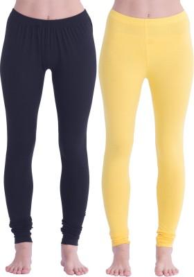 Spictex Girl's Black, Yellow Leggings